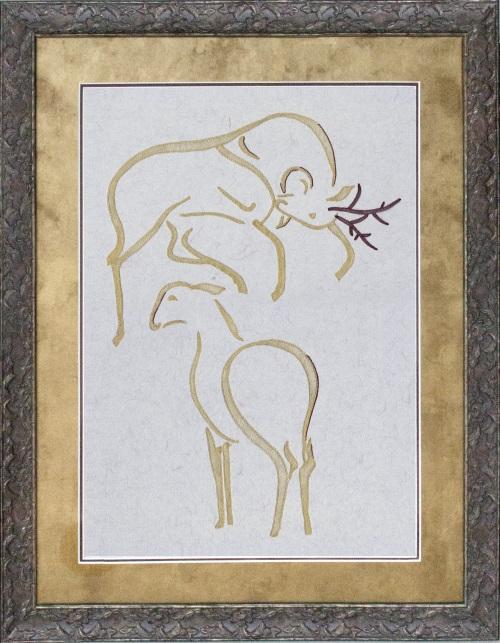 Deers w Frame-500